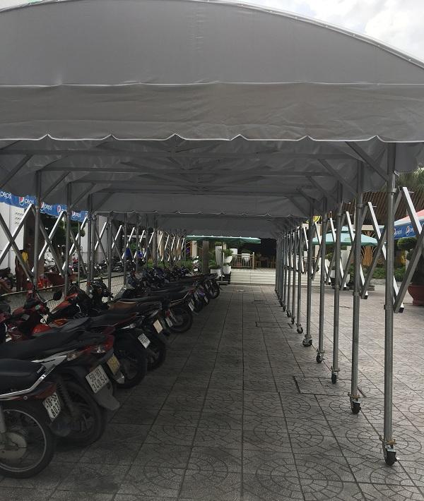 Mẫu mái che nhà để xe máy xe đạp