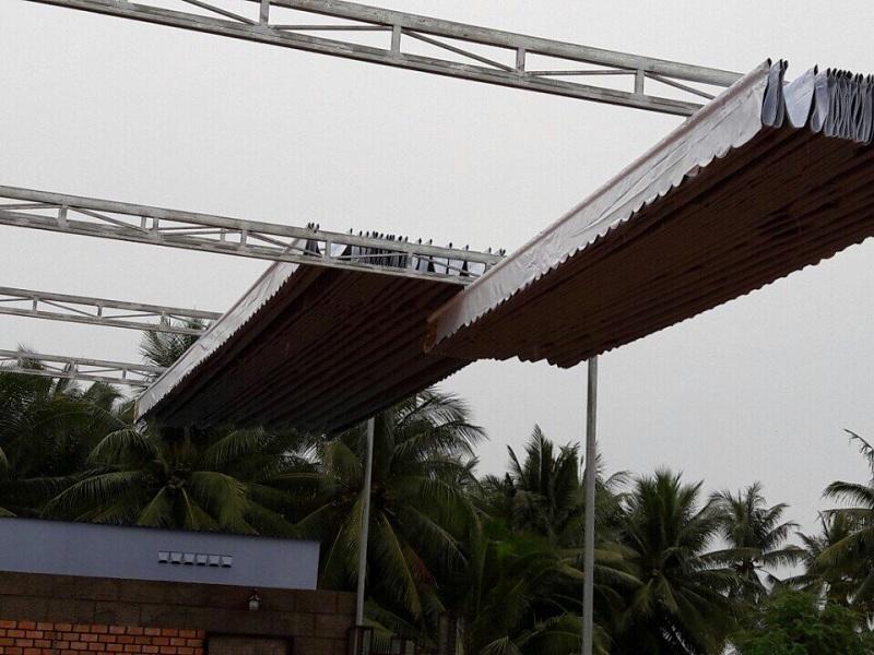Mái che di động nhà hàng
