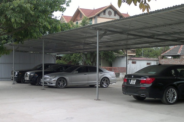 Mái che nhà giữ xe ô tô